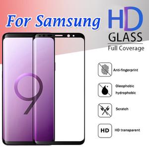 3D Curved vidro temperado cobertura completa Protetor de Tela Guarda Flim Para Samsung Galaxy S20 Ultra S10 E 5G Lite S9 S8 S7 Nota 10 PLUS 9 8
