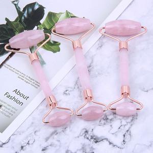 Розовый двойной массажер для головы Jade Roller Тонкий массажер для лица Jade Roller Massager для лица ИНСТРУМЕНТ