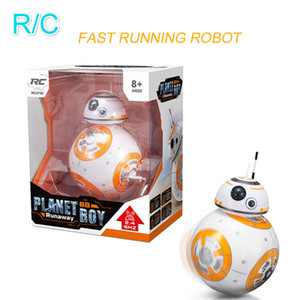 Estrela BB8 Guerras RC Robot Remote Control Ação BB8 Figura Monster Movie BB 8 Toy Bola inteligente Kid presente de aniversário Fast Shipping Y200317