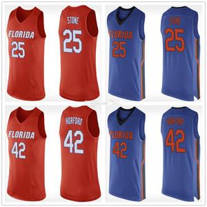 Florida Timsahları Koleji Keith Taş 25 Al Horford 42 Retro Basketbol Jersey Erkekler Dikişli Özel Sayı Adı Formalar
