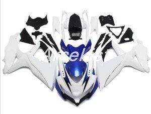 4Gifts New style ABS motorcycle bike Fairing Kit Fit For Suzuki GSXR600 GSXR750 K8 2008 2009 2010 08 09 10 bodywork set Custom blue white
