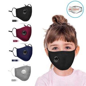 Kinder Atemventil Maske Anti Smog Staub Schwarz Grau-Maske PM2.5 Aktivkohle Waschbar Maske XD23633
