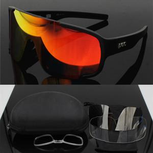 POC Marca aspirar 3 Lens Airsoftsports ciclismo gafas de sol de las mujeres de los hombres del deporte de Mtb bicicleta de montaña Eyewear Gafas CICLISMO