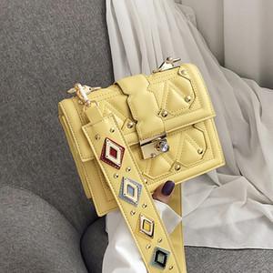 piccola borsa della borsa 2019 nuova borsa a tracolla moda coreana tessitura piccolo pacchetto quadrato bag Spiraea Messenger