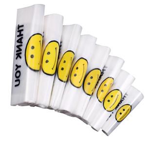 가방을 포장 투명 웃는 얼굴 휴대용 플라스틱 가방 사용자 지정 신선한 재료 방수 다목적 조끼 쇼핑 가방