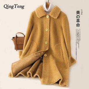 Teddy Coat Woman Long Faux Fur Shaggy Ladies Teddy Bear Jacket Women Fluffy Furry Warm Soft Thick Overcoat Designer Luxury Tops