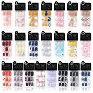 30pc False Nails Kunst-Maniküre Full Cover Künstliche Nägel PVC Artificial Tipps Nail Art Dekorationen Frauen Make-up Matte Nail Sticker