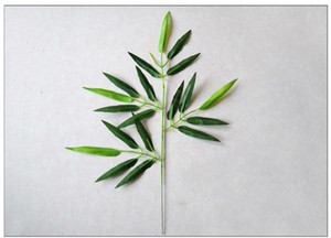 New Design 20Pcs Artificial Bamboo Leaf Plants Plastic Tree Branches Decoration Small bamboo plastic 20 Leaves Photographic accessories t4