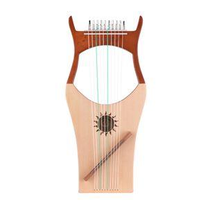 10-струнный Деревянная Лира арфа с нейлоновыми струнами Spruce Topboard Бук Вуд Backboard струнного инструмент с сумкой