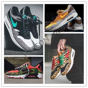 2020 Atmos 1s 90s Shoes Trainers Atmos Animal Pack 3.0 Elephant Bred Print 90 Reverse Duck Camo Designer casual shoes