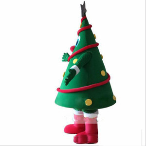 2018 Hot sale Green Christmas Tree Mascot Costume Christmas Carnival performance apparel Free Shipping
