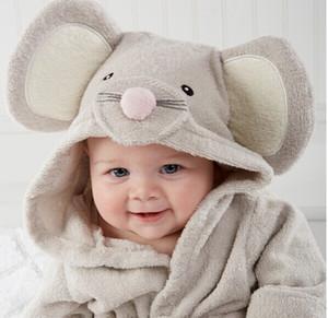 توصيل مجاني! التفاصيل بنين ، بنات ، Animal Baby Bathrobe Baby
