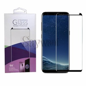 Case Friendly Tempered Glass For Samsung Galaxy S20 Ultra Note 10 S10 Plus S9 3D Curved Case Version Phone Screen Protector with Package