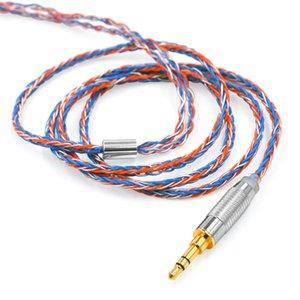 Kulaklık Aksesuar bir dokuma gümüş CCA C12 C16 C10 CA4 A10 C04 V80 için yükseltme kablosunun 8 çekirdekli kübik kulaklık kablo kaplama