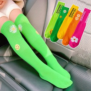 New 2020 flower girls socks fashion long kids socks casual knit knee high socks student athletic sock 2-10Y girls clothes B1110