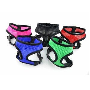 Ajustável macio respirável Harness Dog Nylon malha Vest Harness para Collar cãe Cat Dog Pet Chest Strap Leash