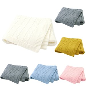Одеяло Вязаных Новорожденные Пеленального Wrap Пледы Сверхмягких малыши Младенческое Постельные принадлежности Одеяло для дивана-кровати Basket коляски одеялко бесплатно корабля