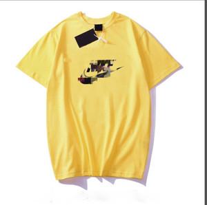 남성과 여성의 T 셔츠를 인쇄 여름 반팔 알파벳 새로운 개인 SS2020 여성 디자이너 브랜드 T 셔츠 패션 코튼 T-shir
