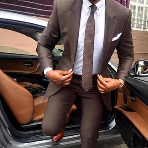 I nuovi uomini Completo alla moda smoking dello sposo Groomsmen abiti formali degli uomini di affari di usura (giacca + pantaloni) Due Pezzi Wedding Bestman Wear SU0065