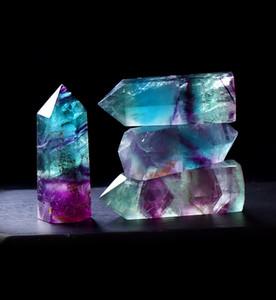 Bianco Naturale Fluorite cristallo del cristallo di quarzo Pietra Point Healing esagonale bacchetta del trattamento di pietra Dropshipping