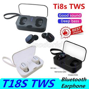 Ti8s Bluetooth écouteurs sans fil 5,0 Mini TWS T18s Casque hi-fi stéréo sans fil T18S Casques écouteurs sport écouteurs Téléphone avec micro