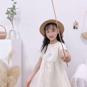 Bebek Kız Giyim Marka Çocuk Giyim Çocuk Elbise Yeni Yaz Çiçek Boş Ruffles Openwork Çocuk Kız Elbise