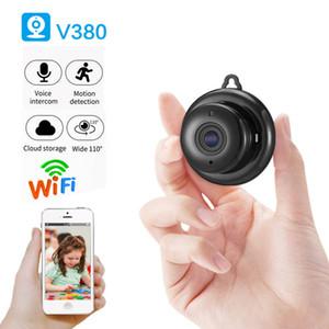 Detección de bebé V380 mini WiFi 1080P Wireless Home Seguridad WiFi IP cámara CCTV IR de visión nocturna Control de movimiento P2P V380 Camcord