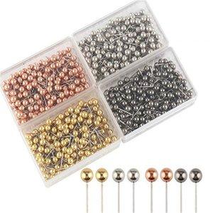 heap Pins & Pincushions 400pcs set fashion Sewing Needles Metallic plastic safety pin ball needle cork office fixed knitting needles wedd...