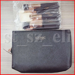 ICONIC LONDON HD High-Definition-Gesichtsmake-up-Pinsel-Set 12-teiliger Foundation Brush Concealer-Pinsel mit Tasche