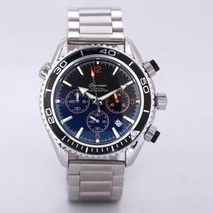 모든 Subdials Work Mens 시계 Steel Quartz 손목 시계 StopwatchWatch relogies 대 한 relojes Best Gift