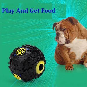 Brinquedos do cão Pet Puppy Som bola vazamento de Alimentos Bola som bola de brinquedo Pet Dog Cat Squeaky Chews Filhote de Cachorro Squeaker Som Pet Suprimentos ST264