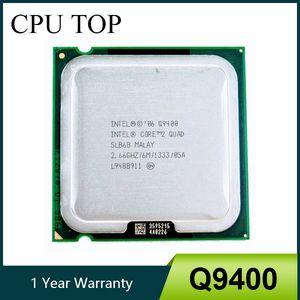 وحدات المعالجة المركزية كور 2 كواد Q9400 SLB6B 2.66GHz 6MB 1333MHZ المقبس 775 وحدة المعالجة المركزية المعالج 100٪ والعامل وحدات المعالجة المركزية