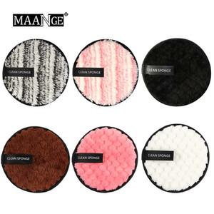 6pcs / lot dissolvant de maquillage paresseux 6 couleurs coton visage réutilisable éponge douce nettoyage maquillage bouffée cosmétiques outils