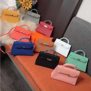 2020 النساء الأكثر شعبية في dsigner الفاخرة زينة حقائب المعادن الموضة حقائب جلدية متعددة الألوان كيس تأتي مع صندوق