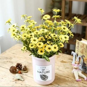 Daisy Hochzeit Dekorationen künstliche Blumen-22inch PE Blume 9pcs Blumen-Köpfe Hauptdekor Fake Flowers Little Daisy