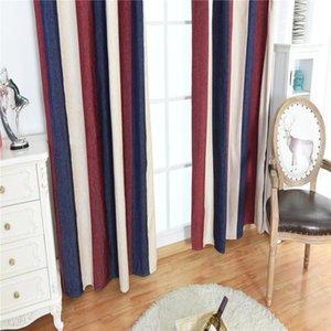 100 * 250cm Ready Made Striped occhielli Tende - Moderna Ring Top completamente allineato Curtain (Blackout Cloth)