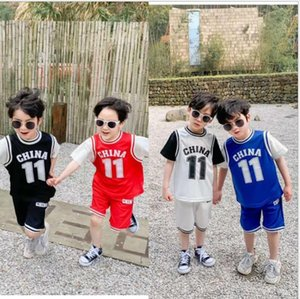 Postal children's wear boys' sports suit two piece set 2020 summer wear Korean version children's thin casual short sleeves