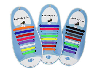 16pcs / серия силиконовые Шнурки Упругие обуви Шнурки Специальный Нет Tie шнурки для мужчин Женщины шнуровка резиновые Zapatillas 13 цветов