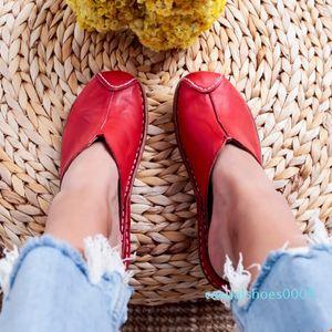 Litthing 2020 Women Round Toe Flats Slide Sandals Summer Slippers Beach Shoes Woman Mule Flat Sandals Sandalia Feminina c09
