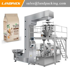 Dog Food Stand Up Pouch Filling And Sealing Machine Multihead Weigher Pet Food Stand Pouch Packing Machine Price