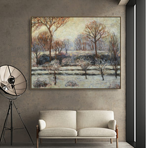 Winter Landscape by Monet Wall Pictures Posters Print Canvas Painting Calligraphy Decor Picture for Living Room Home Decor