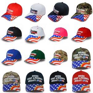 DHL Donald Trump 2020 Beyzbol Şapka Keep Yine Amerika Büyük Şapka 3D Nakış Cap Kamuflaj Ayarlanabilir Snapback Özel Logo 19 Stiller M521F