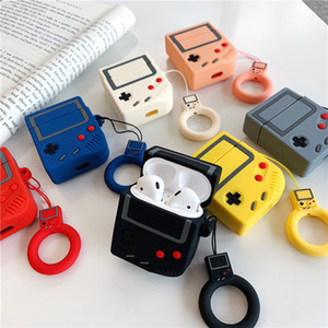 Luxury cute 3D gameboy Protector Silicone Bluetooth Wireless Earphone Case For Apple AirPods 1 2 Headset bag Portable Silicone Skin Shockpro