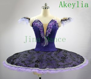 Adult Purple Professional Ballet Tutu Pancake Classical Performance Stage Competition Ballet Tutus Children Ballerina Stage Costumes Girls