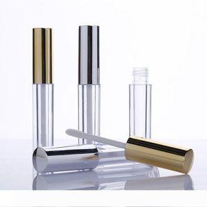 حزمة مستحضرات التجميل أنبوب شفة اللمعان 10ML صغيرة مستديرة ملمع الشفاه زجاجة فارغة مع غطاء الذهب WB1951