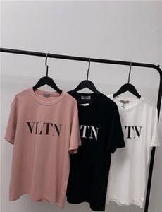 Новое прибытие VIT роскошный дизайн Письмо печати пара с коротким рукавом футболки Мужчины Женщины моды случайные спортивный потерять Tshirt размер S-XL