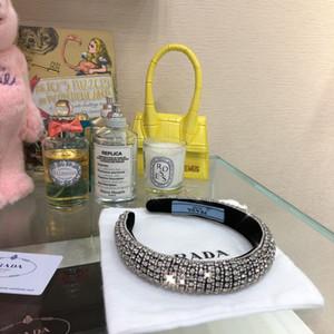 Diamante progettista della fascia fascia dei capelli del modello donne bordatura piene fasce per il regalo con accessori per capelli di moda di lusso logo bambini ragazza