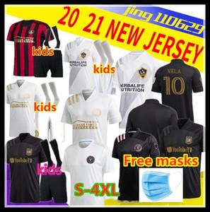 Adultos crianças 2020 2021 MLS Atlanta United Football Jersey # 10 G.MARTINEZ # 7 MARTINEZ Atlanta United Home Jersey 2019 Los Angeles FC Football