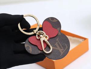 HOT Luxury Designer Key Chain Keychain Fashion Cute Key Ring Holder Wallet Women Bag Charm Keyring Llavero Gifts High Quality with box