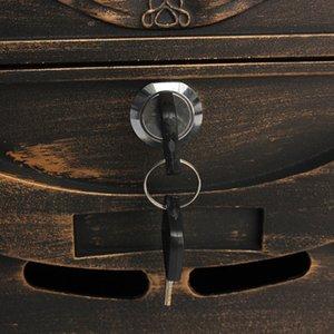Pesado de alumínio Lockable Secure Mail Carta Post Box Mailbox Postbox Retro Vintage Metal Box Correio Ornamento do jardim